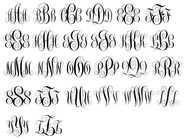 Initials Monogram Script Font