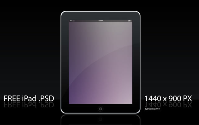 19 Free IPad PSD Template Images