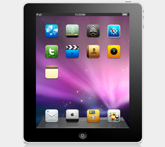 iPad Template PSD