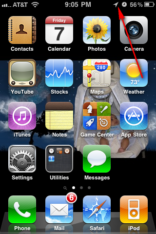 12 Arrow Icon On Iphone Images What Does The Arrow Mean On The