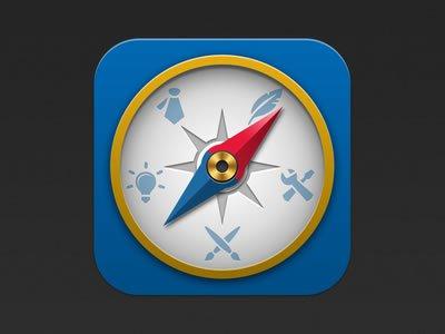 iPhone Compass App Icon