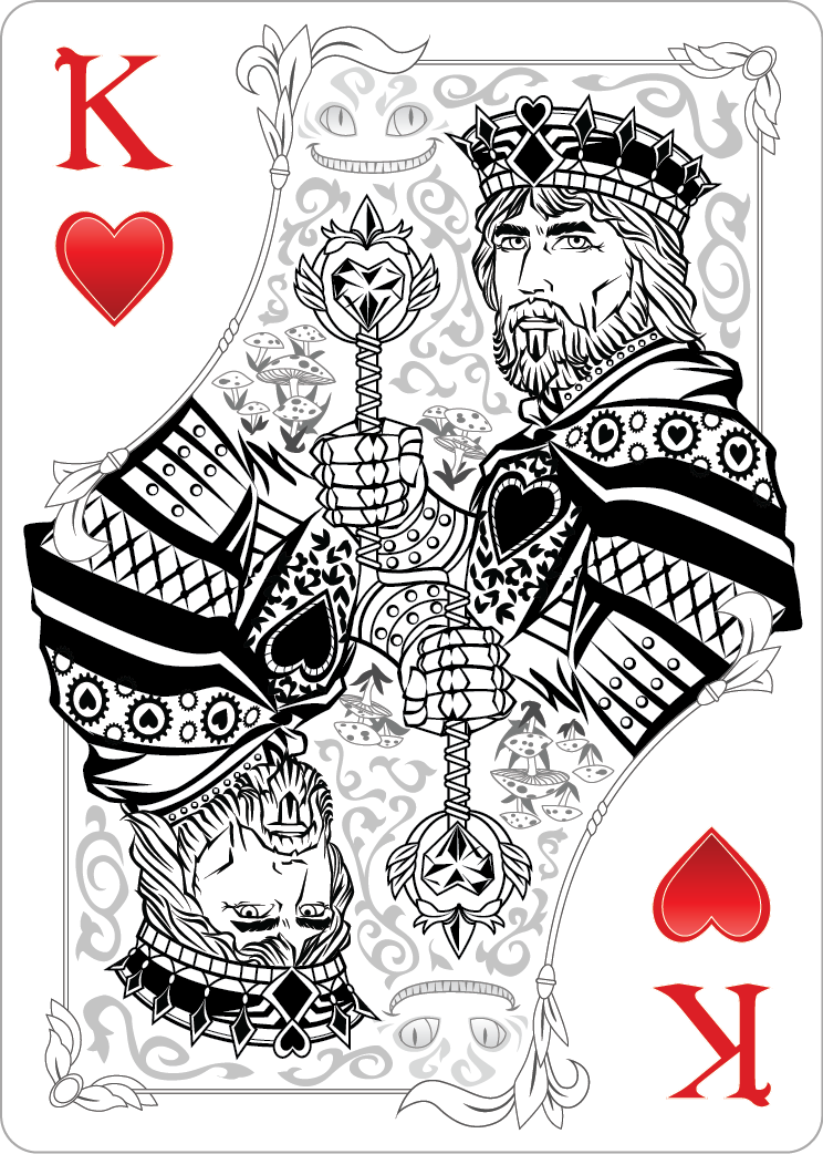 King Playing Card Drawings