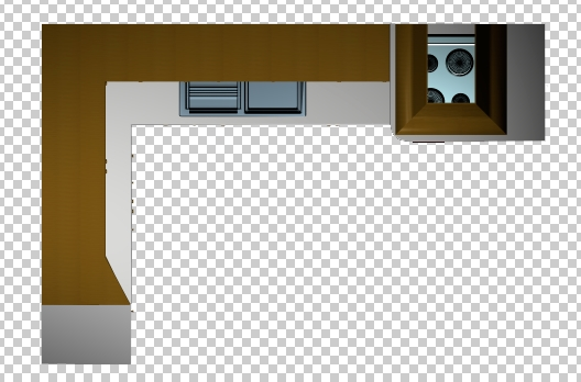 Kitchen Countertop Clipart Top View