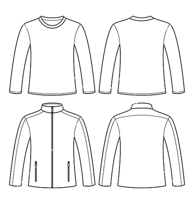 12 long sleeve vector template images long sleeve blank shirt template long sleeve shirt. Black Bedroom Furniture Sets. Home Design Ideas