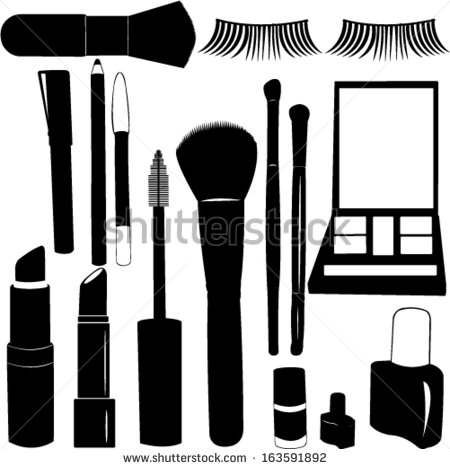 18 Vector Silhouette Makeup Images