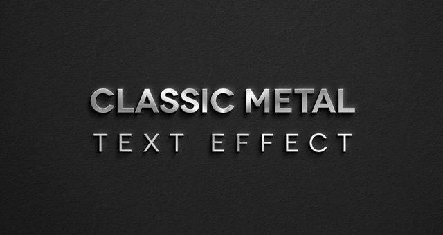 Metal Text Effect Photoshop