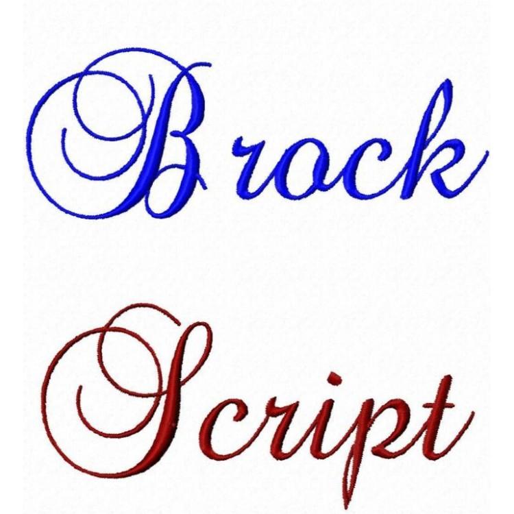 Monogram Script Embroidery Font