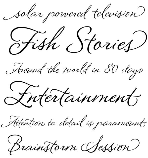 8 Modern Script Fonts Images