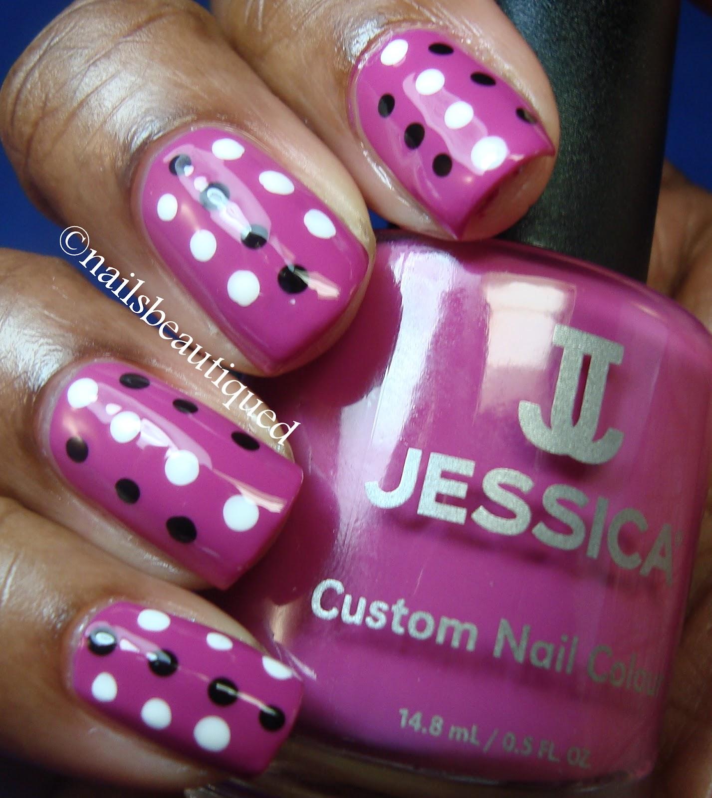 14 Pink Polka Dot Nail Designs Images