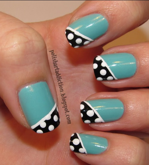 19 Cute Polka Dot Nail Designs Images