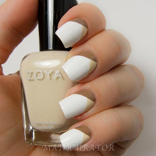Neutral Color Nail Art Design