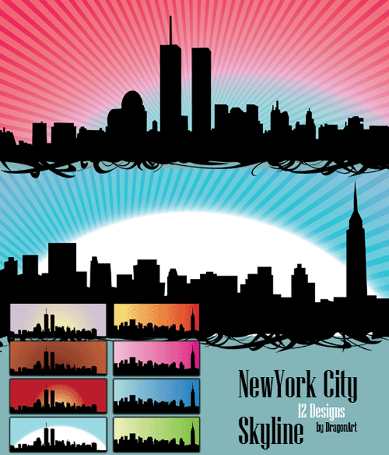 15 Skyline Vector Free Download Images