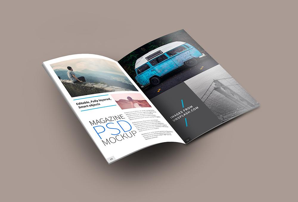 Open Free Magazine Mockup PSD