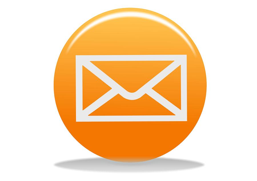 Orange Email Icon