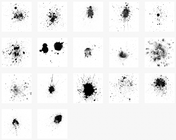 15 Paint Splash Brushes For Photoshop Images
