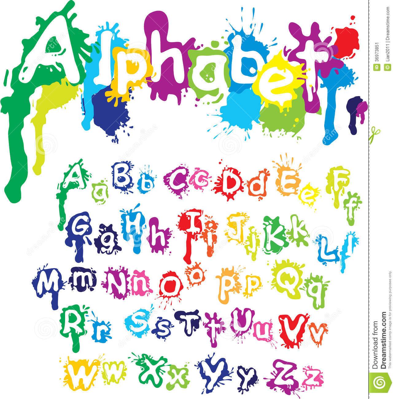 12 Paint Splatter Font Images