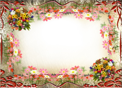 Photoshop Frame PSD Flowers