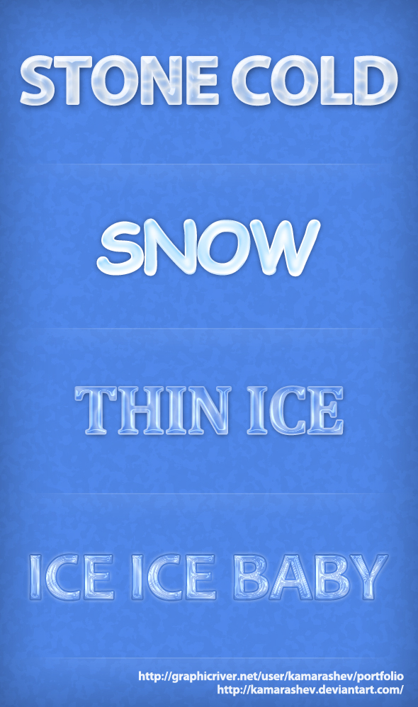 Photoshop Ice Font