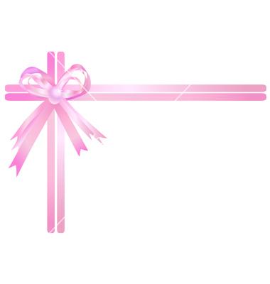 Pink Ribbon Vector