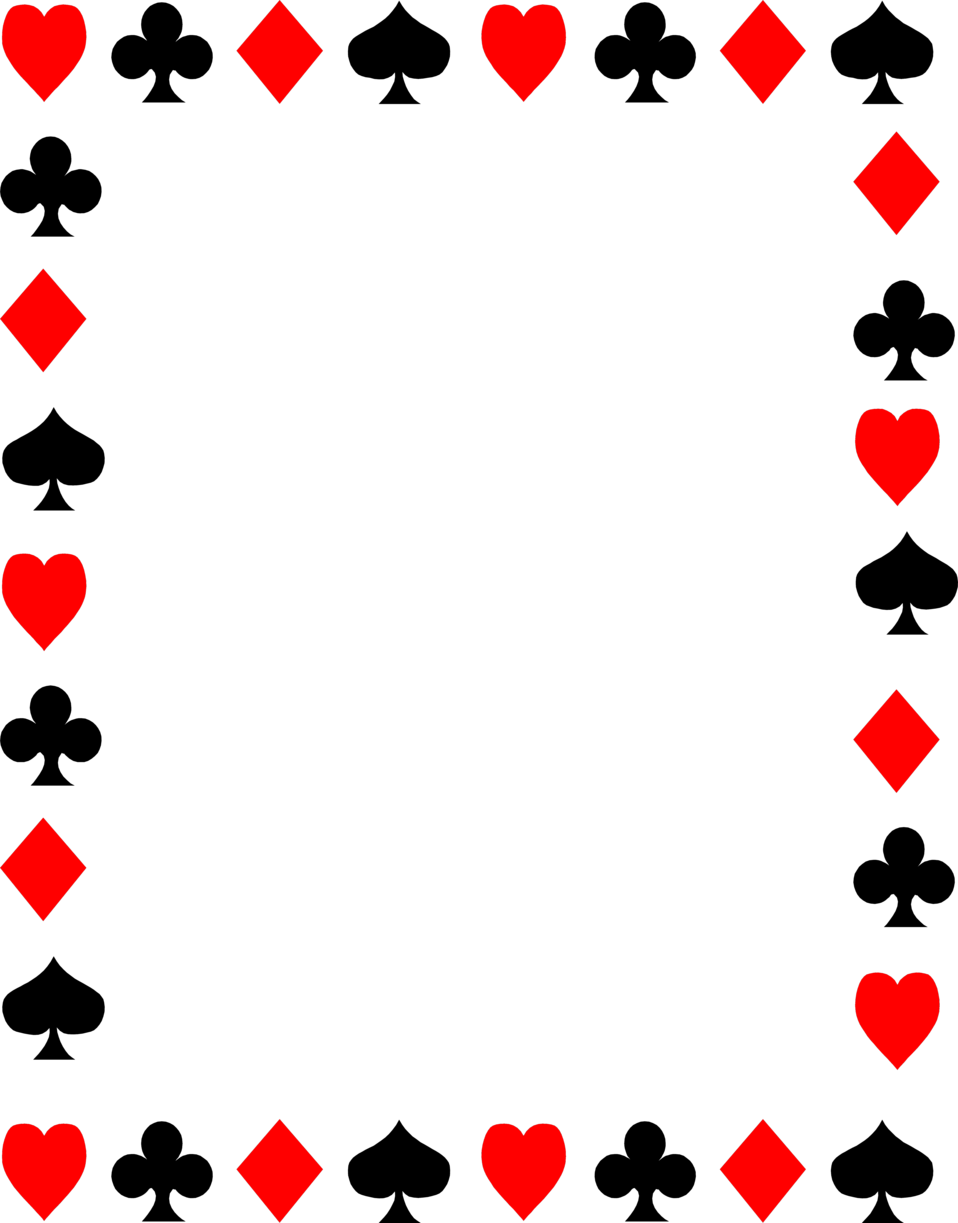 Playing Cards Clip Art Borders