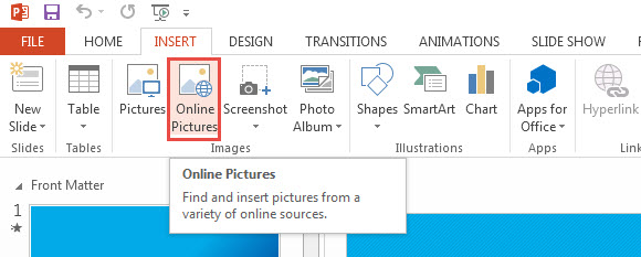 PowerPoint 2013 Insert Clip Art