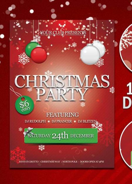 14 Christmas Party Flyer PSD Template Images