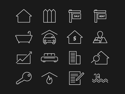 Real Estate House Icon Vector