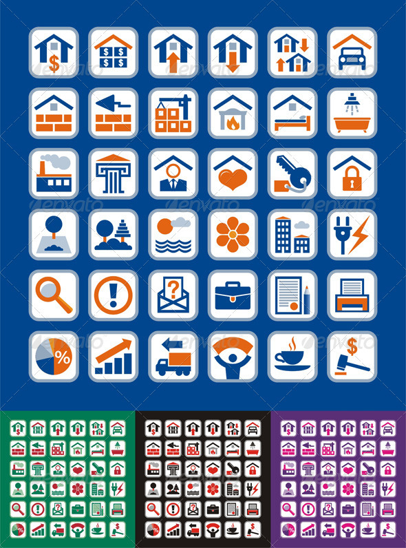 Real Estate Vector Graphic Icons