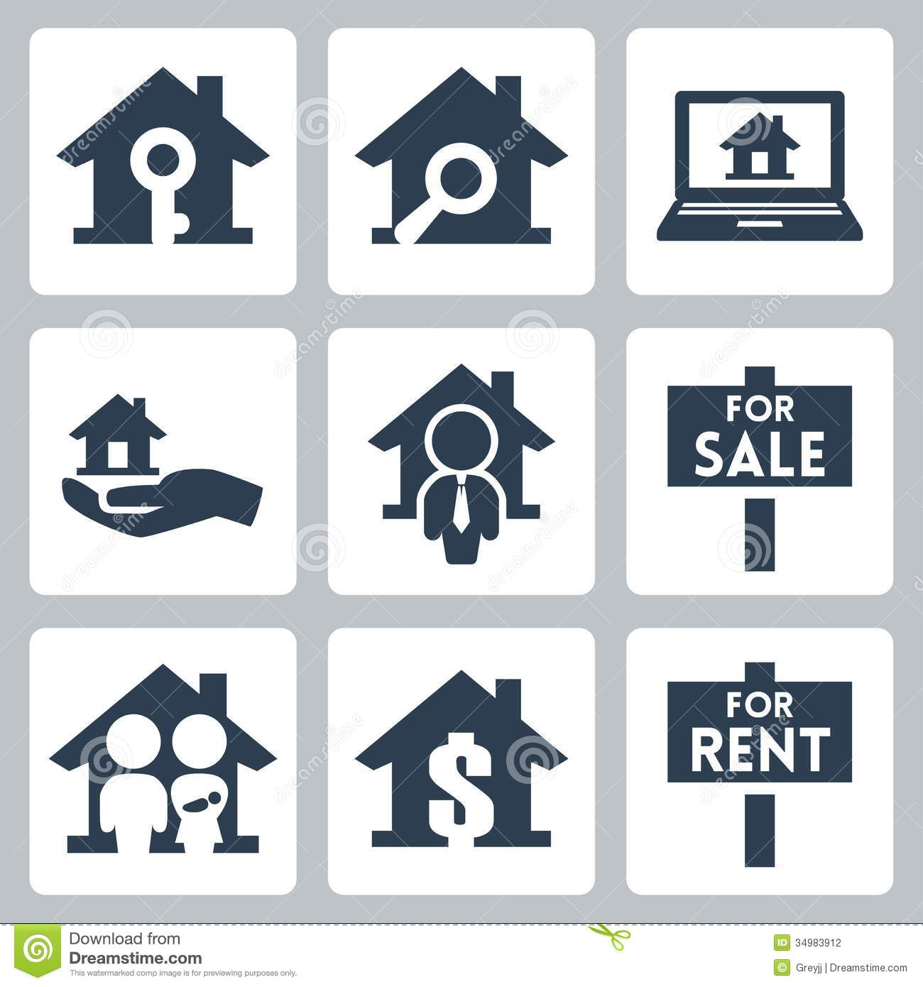 16 Real Estate Icons Vector Images