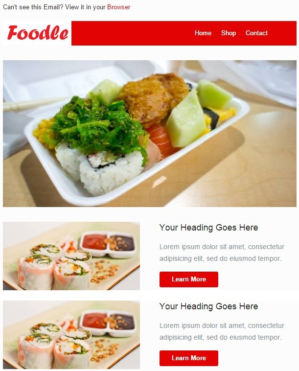 5 Responsive Email Template PSD Images