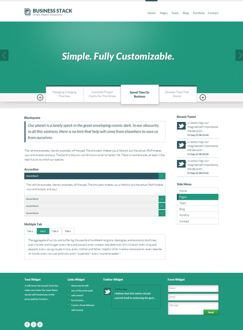 Responsive Template PSD Free Download