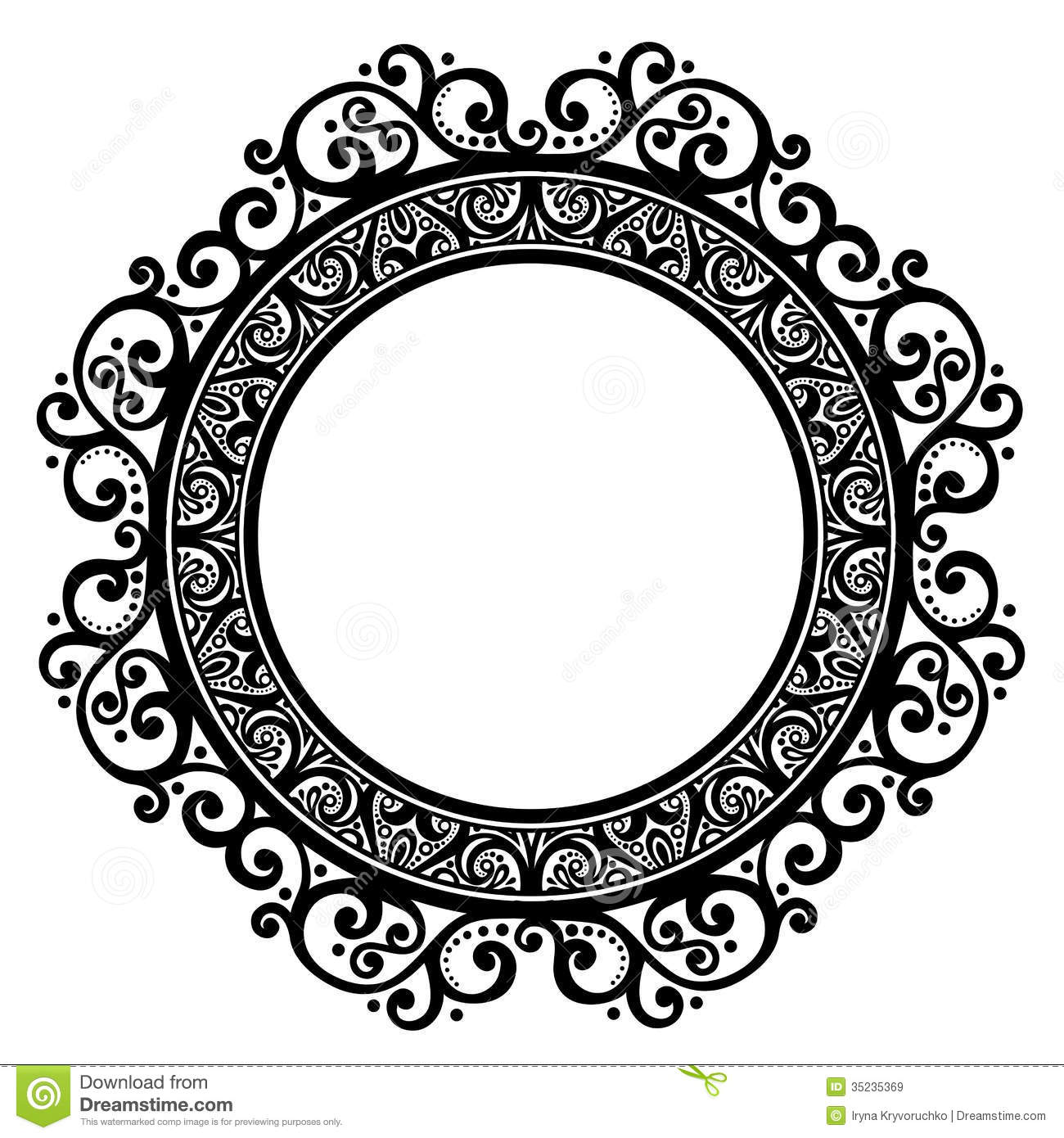 10 free vector ornate circle frame images floral decorative vector
