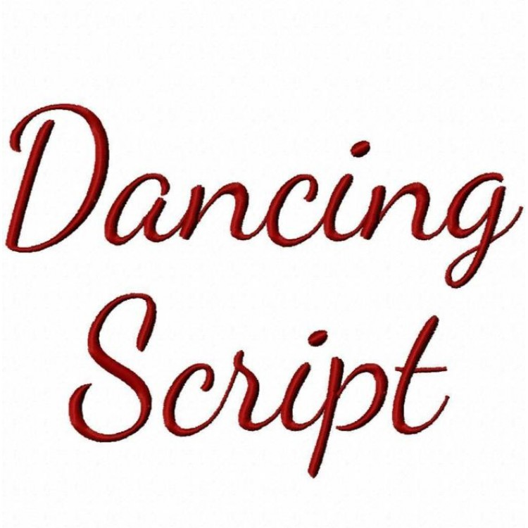 Script Embroidery Fonts