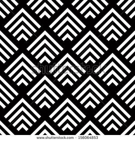 Simple Black and White Geometric Patterns