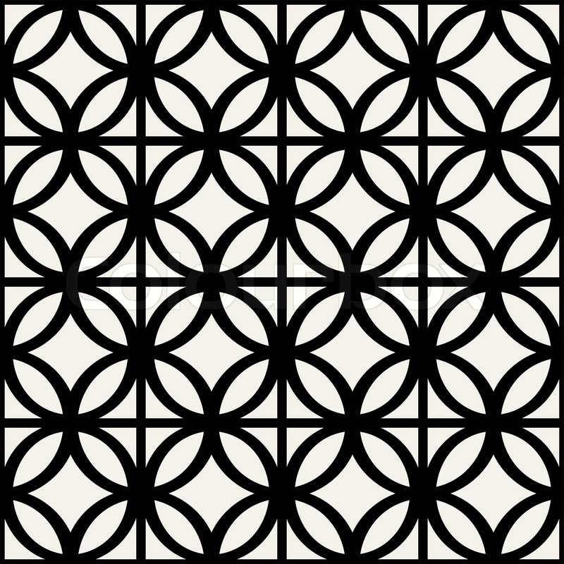 Simple Black and White Modern Pattern