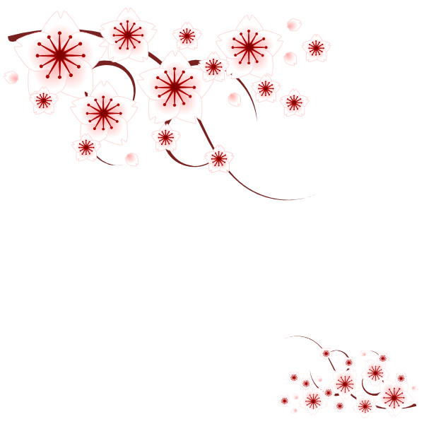 15 Simple Flower Design Vector Floral Borders Images
