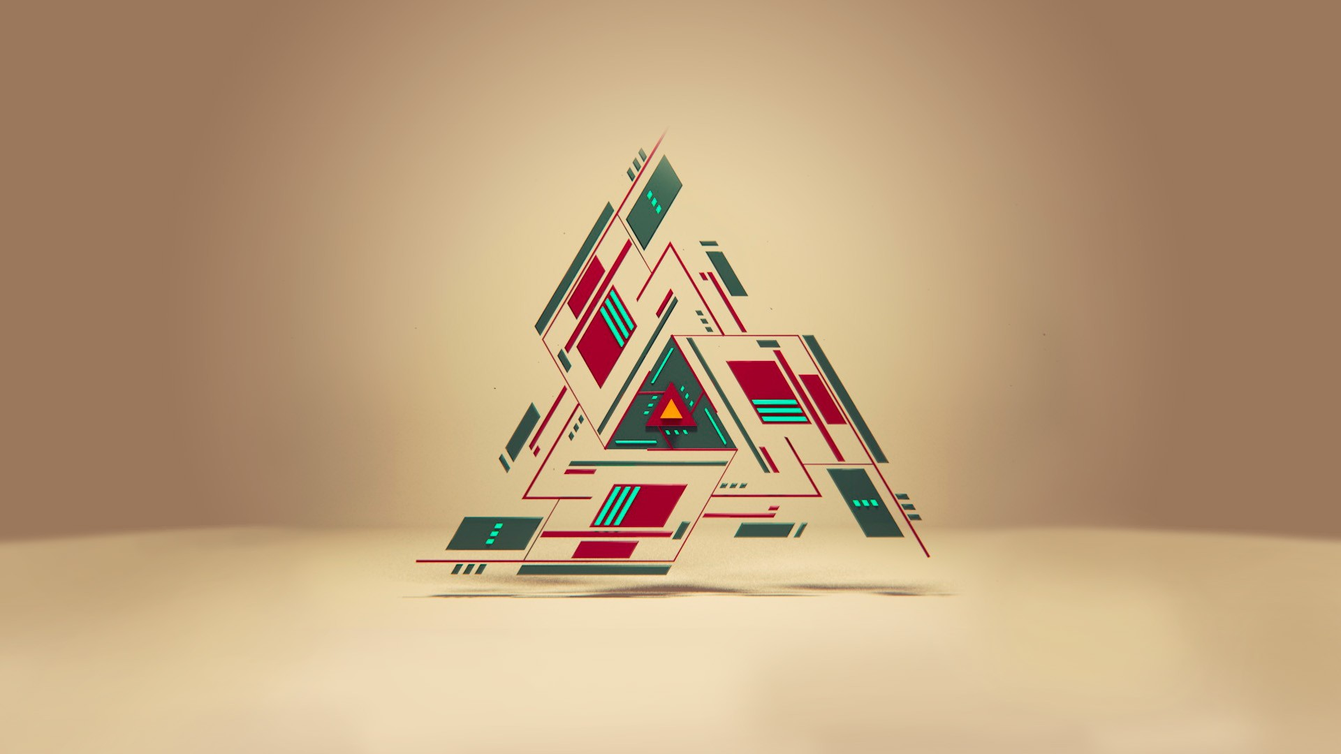 Simple Geometric Triangles Background