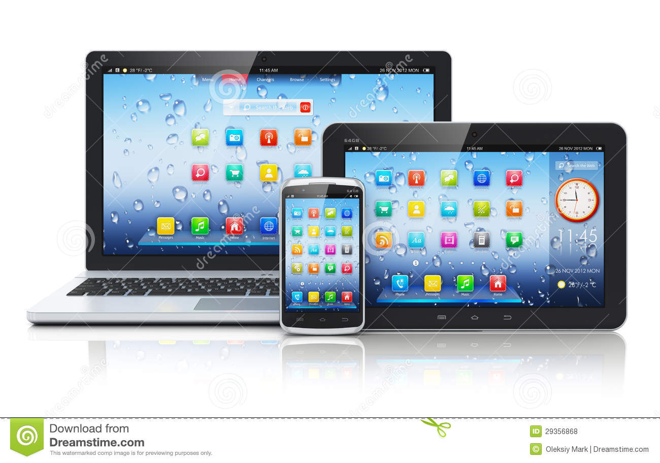 14 Laptop Computer Tablet Phone Icon Images