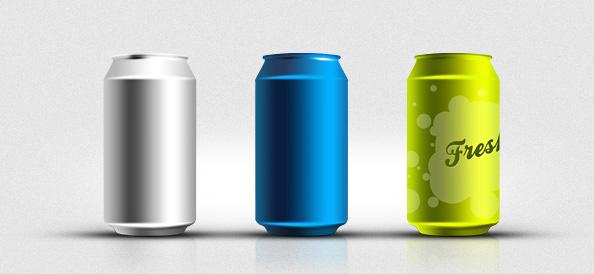 Soda Can PSD Mockup Templates