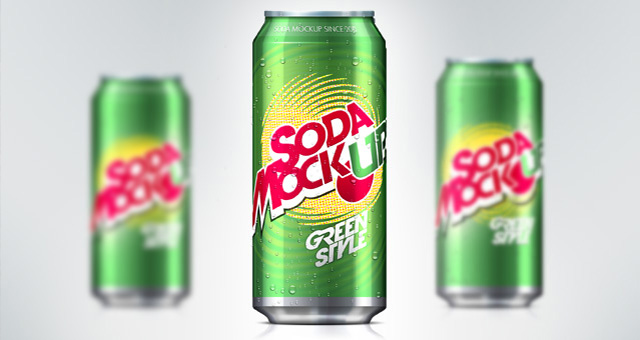 11 Soda Can PSD Mockup Template Images