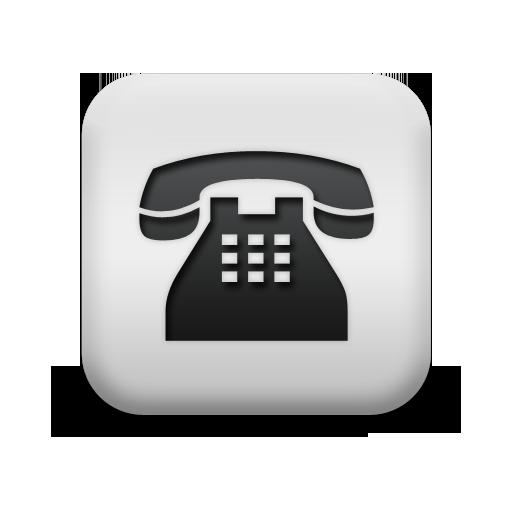 Square White Phone Icon
