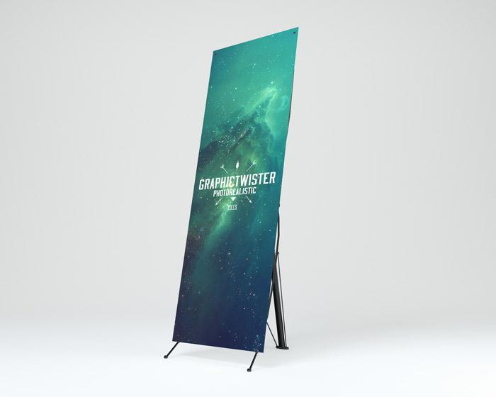 Stand Up Banner PSD Mockup