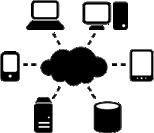 Technology Network Icon White