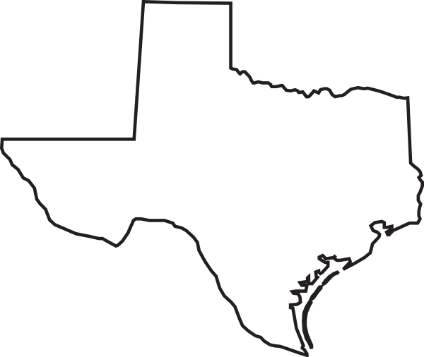Texas State Outline Clip Art