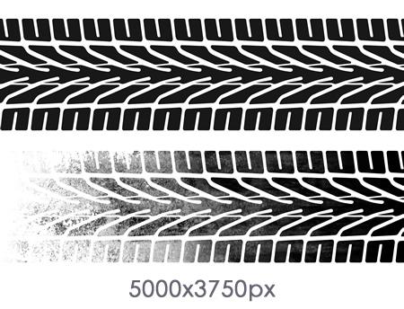 Tire Tracks Skid Mark