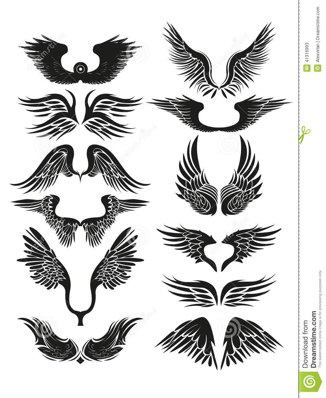 7 Tribal Wings Vector Images - Wings Vector Art Free ...