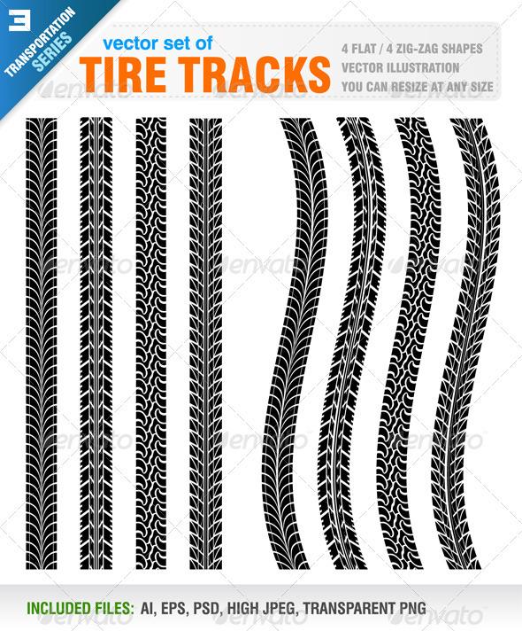 Truck Tire Tracks Stencil