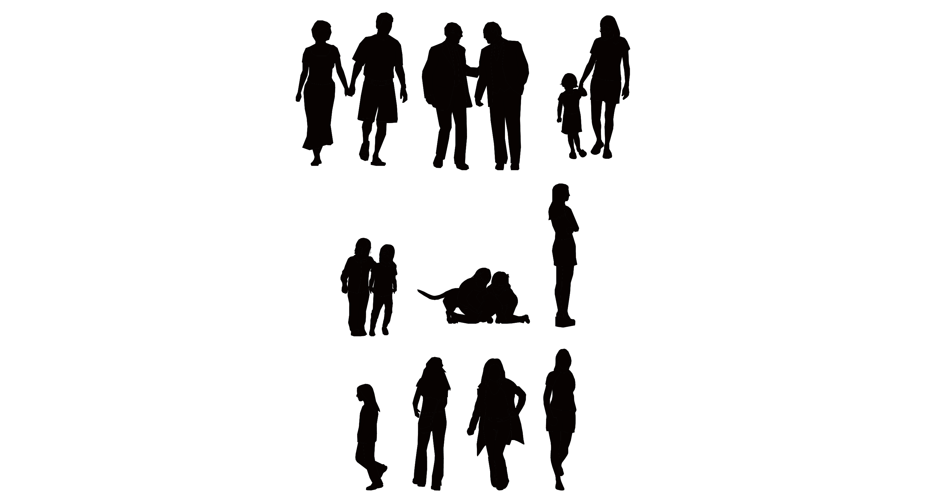 18 Sitting People Vector Graphics Images - Vector Business ...
