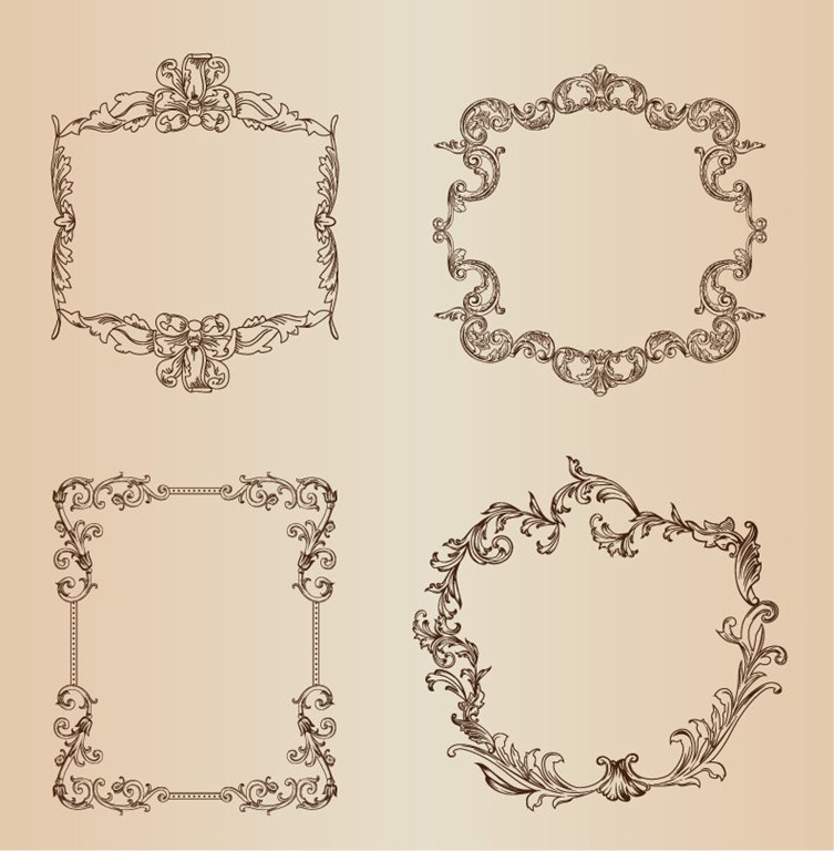 Vintage Vector Decorative Frames