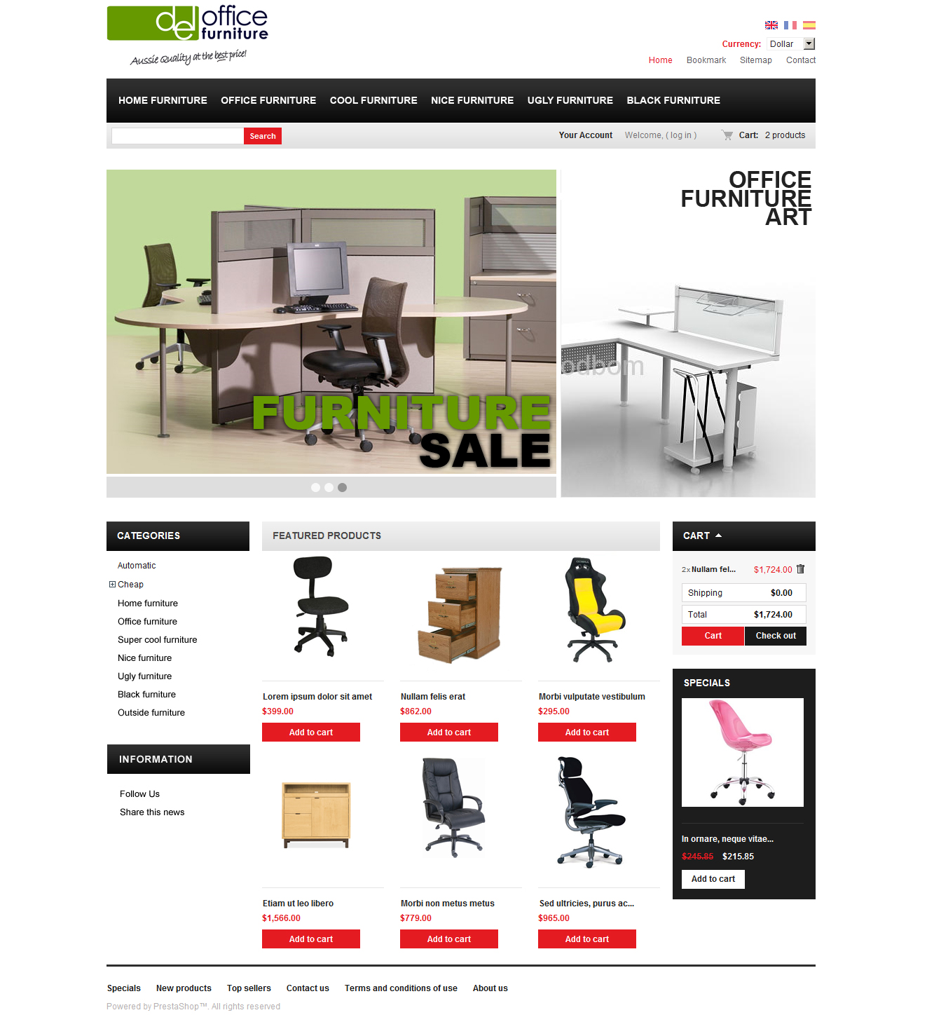 Web Design Office Furniture